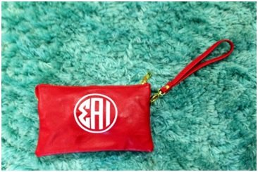 SAI Leather Wristlet
