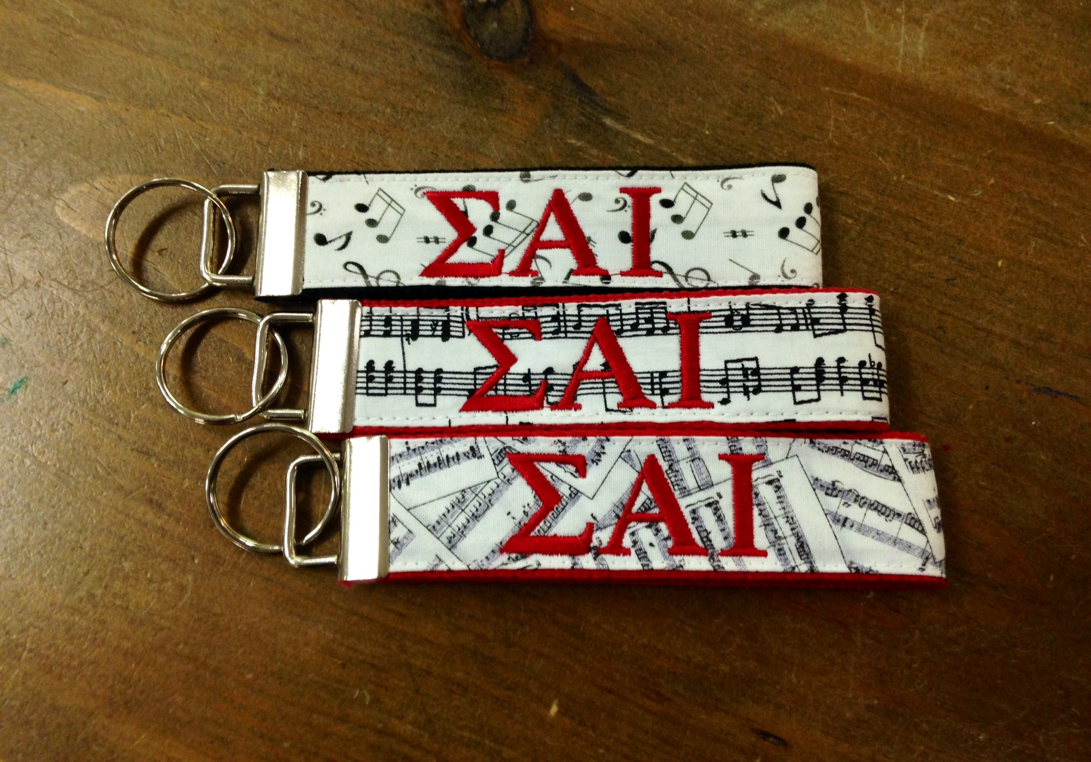 SAI Red & White Music Key Fob
